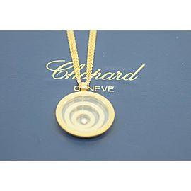 Chopard Happy Spirit Diamond 18K Yellow Gold Pendant Necklace 79/5431