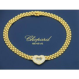 Chopard Happy Diamonds 18K Yellow Gold Heart Necklace 81/5427