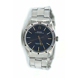 Rolex Oyster Perpetual Blue Dial Stainless Steel Watch 1007