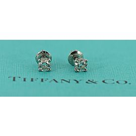 Tiffany & Co 0.68 CTW G/VS2 Diamond Platinum Stud Earrings