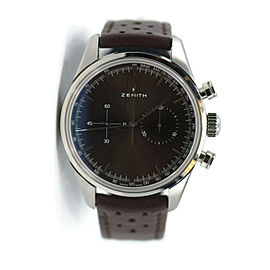 Zenith Chronomaster Heritage Brown Dial Stainless Steel Watch 03.2150.4069