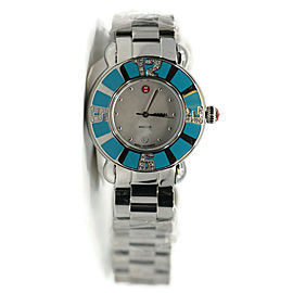 Michele Coral Turquoise Diamond Stainless Steel Watch MW14B01F6025