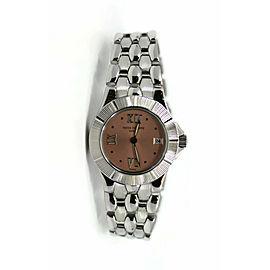 Patek Philippe Neptune Pink Dial Stainless Steel Watch 4880