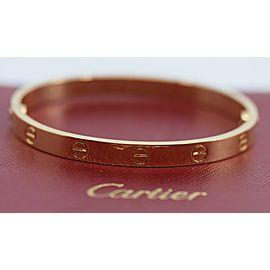 Cartier 18K Yellow Gold Love Bracelet Size 17