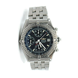 Breitling Chronomat Blackbird Stainless Steel Watch A13350