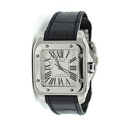 Cartier Santos 100 Midsize Stainless Steel Watch W20106X8