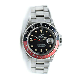 Rolex GMT-Master II Fat Lady Stainless Steel Watch 16760