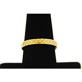 Gucci 18K Yellow Gold Ring Size 6.75