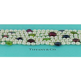 Tiffany & Co Gemstone Pearl 18K White Gold Bracelet