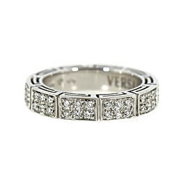 Versace Diamond 18K White Gold Ring Size 8.5