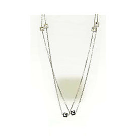 Gucci 18K White Gold Necklace 40 Inches