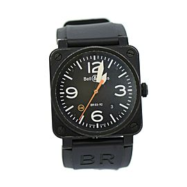 Bell & Ross Aviation Limited Edition Black Stainless Steel Watch BR 0392S