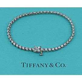 Tiffany & Co Victoria 3.26 CTW F/VS1 Platinum Diamond Bracelet