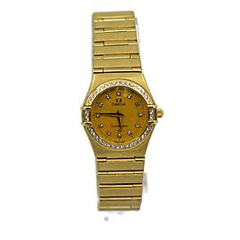 Omega Constellation Diamond 18K Yellow Gold Watch 1177.15.00