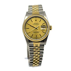 Rolex Datejust 18K/Stainless Steel Watch 16233 Box/Papers