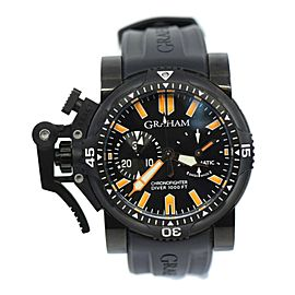Graham Chronofighter Oversized Diver Black Steel Watch 2OVEZ.B02B.K10B