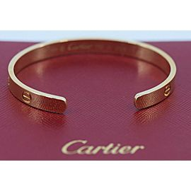 Cartier 18K Yellow Gold Cuff Love Bracelet Size 17
