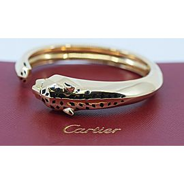 Cartier Panthere Tsavorite 18K Yellow Gold Bracelet Size 17