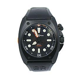 Bell & Ross Marine Black Stainless Steel Watch BR02