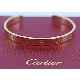 Cartier 18K Yellow Gold Cuff Love Bracelet Size 16