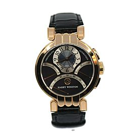 Harry Winston Premier Excenter Chronograph 18K Rose Gold Watch 200-MCRA39RL