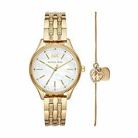 Michael Kors Lexington Gold Tone Stainless Steel Watch MK4492