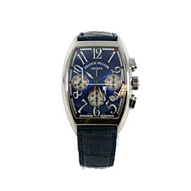 Franck Muller Chronograph Blue Dial Stainless Steel Watch 7880 CC AT