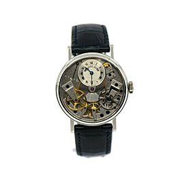 Breguet Tradition Skeleton 18K White Gold Watch 7027