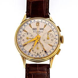 Baume & Mercier 18K Yellow Gold Vintage Manual 36mm Mens Watch