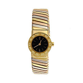 Bulgari Tubogas 18K Yellow, White and Rose Gold Quartz 19.1mm Womens Watch