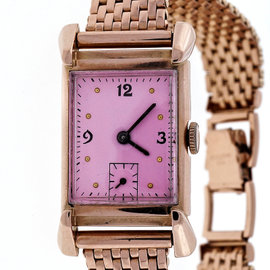 Art Deco His Excellency Academy Award 14k Pink Gold 21 Jewel 7AK Watch Ladies Men's