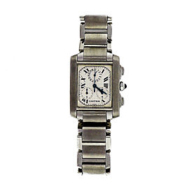 Cartier Tank Francaise 2303 Stainless Steel Quartz 28mm Mens Watch