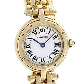 Cartier Panthere 18K Yellow Gold White Dial Quartz 23.33mm Womens Watch