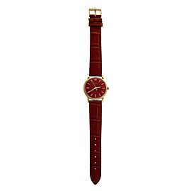 Girard Perregaux 14K Yellow Gold Automatic Red Dial 35mm Unisex Wrist Watch 1960