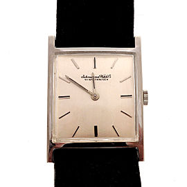 IWC 18K White Gold Manual Vintage 25.67mm Mens Watch