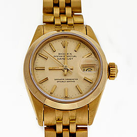 Ladies Rolex 6917 Solid 18k Yellow Gold Jubilee Bracelet, 26mm