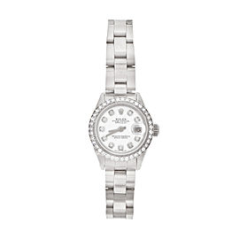 Rolex White Gold, Stainless Steel Diamond Ring