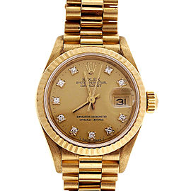 Rolex 69178 18K Yellow Gold 26mm Womens Watch