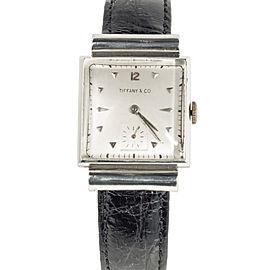 Tiffany & Co. Platinum Mnual VIntage 25mm Mens Watch