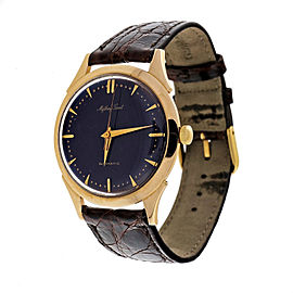 Mathey Tissot 14K Yellow Gold Automatic Purple Dial 34.54mm Unisex Watch 1960