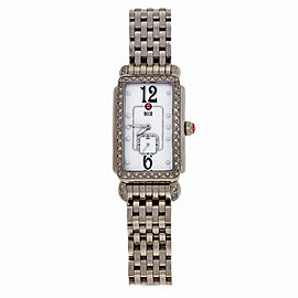 Michele Deco MW06E01 Diamond Stainless Steel 27mm Womens Wrist Watch