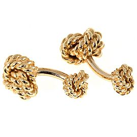 Tiffany & Co. 14K Yellow Gold Double Knot Cufflinks
