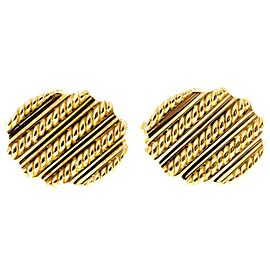 Tiffany & Co. 18K Yellow Gold Twisted Wire Clip Cufflinks