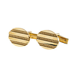 Tiffany & Co. 18K Yellow Gold Vintage Oval Cufflinks