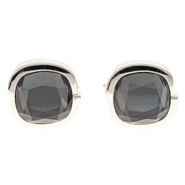 Stephen Webster 18K White Gold Faceted Hematite Cufflinks
