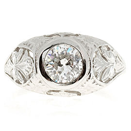 Vintage Art Nouveau Platinum with 1.10ct Diamond Ring Size 9
