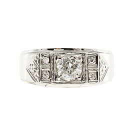 14K White Gold 0.75ct Diamond Ring Size 10.5