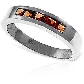 0.6 CTW 14K Solid White Gold Gloria Garnet Ring