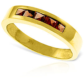 0.6 CTW 14K Solid Gold Heart's Misgivings Garnet Ring