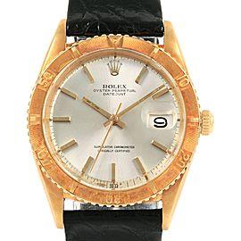 Rolex Turnograph Datejust 18k Yellow Gold Vintage Mens Watch 1625
